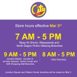 City Mart stores in four shopping centers will be non-operational until further notice